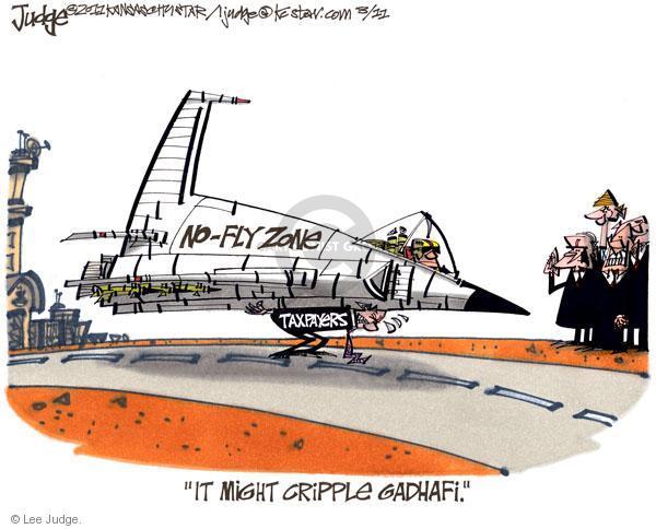Lee Judge  Lee Judge's Editorial Cartoons 2011-03-11 Muammar al-Gaddafi