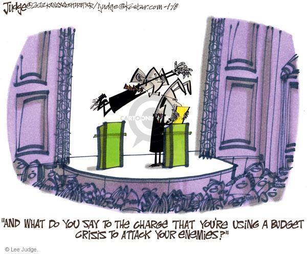 Lee Judge  Lee Judge's Editorial Cartoons 2011-04-08 federal budget