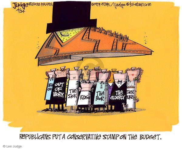 Lee Judge  Lee Judge's Editorial Cartoons 2011-04-14 federal budget