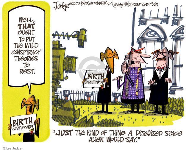 Lee Judge  Lee Judge's Editorial Cartoons 2011-04-29 space