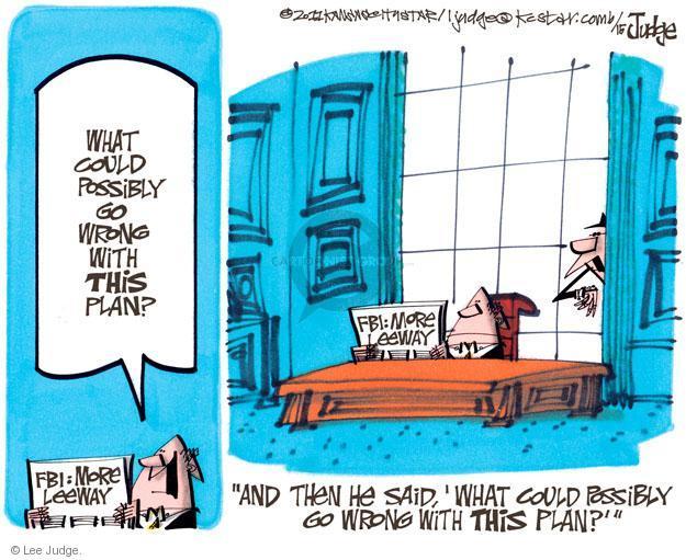 Cartoonist Lee Judge  Lee Judge's Editorial Cartoons 2011-06-15 civil liberty