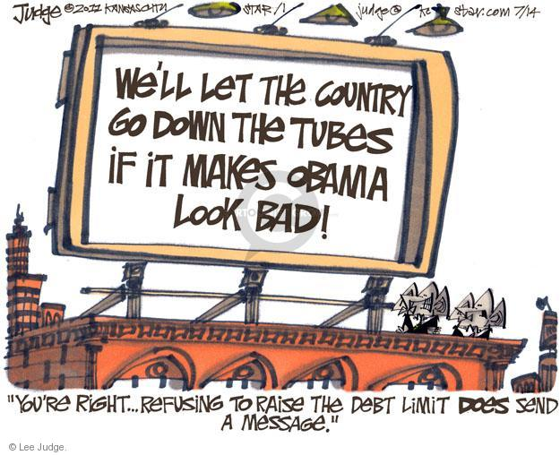 Lee Judge  Lee Judge's Editorial Cartoons 2011-07-14 federal budget