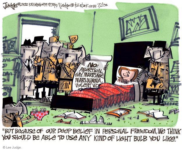 Lee Judge  Lee Judge's Editorial Cartoons 2011-07-23 reproductive freedom