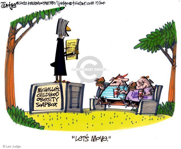 Cartoonist Lee Judge  Lee Judge's Editorial Cartoons 2011-07-24 first lady