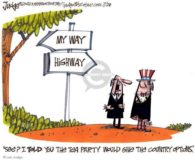 Lee Judge  Lee Judge's Editorial Cartoons 2011-07-28 highway