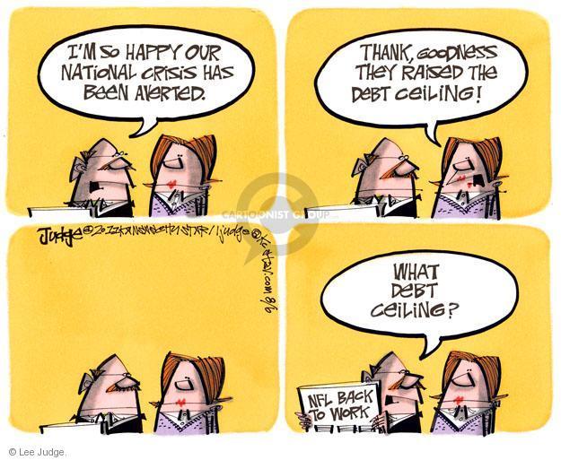 Lee Judge  Lee Judge's Editorial Cartoons 2011-08-06 federal budget
