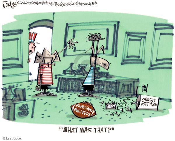 Lee Judge  Lee Judge's Editorial Cartoons 2011-08-09 federal budget