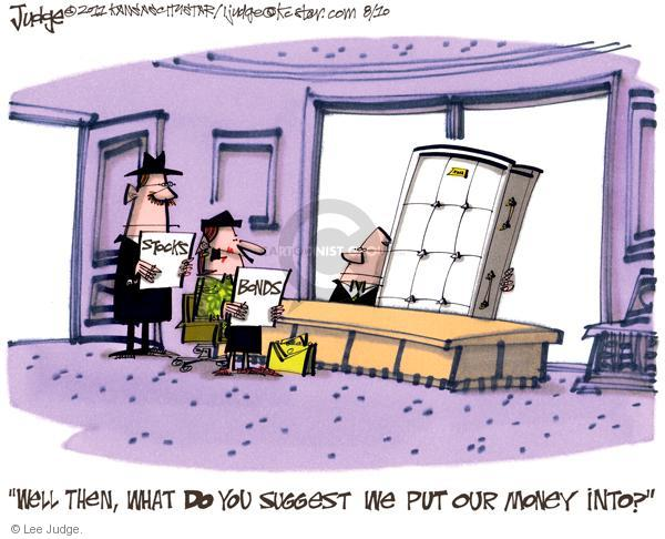 Lee Judge  Lee Judge's Editorial Cartoons 2011-08-10 stock market