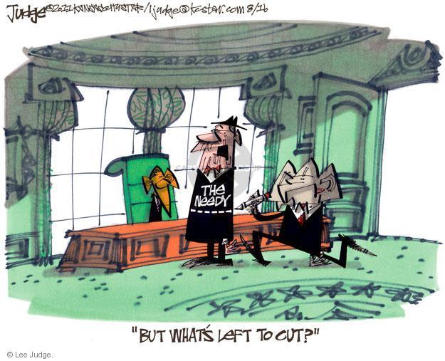 Lee Judge  Lee Judge's Editorial Cartoons 2011-08-16 federal budget