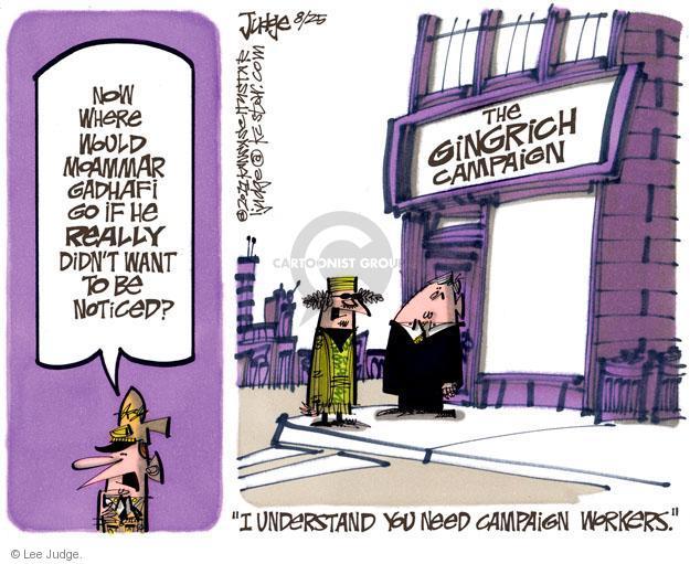Lee Judge  Lee Judge's Editorial Cartoons 2011-08-25 colonel