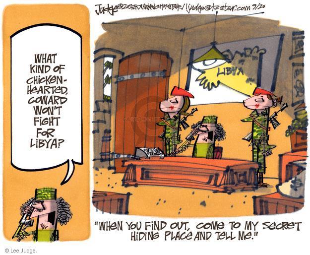 Lee Judge  Lee Judge's Editorial Cartoons 2011-09-20 colonel