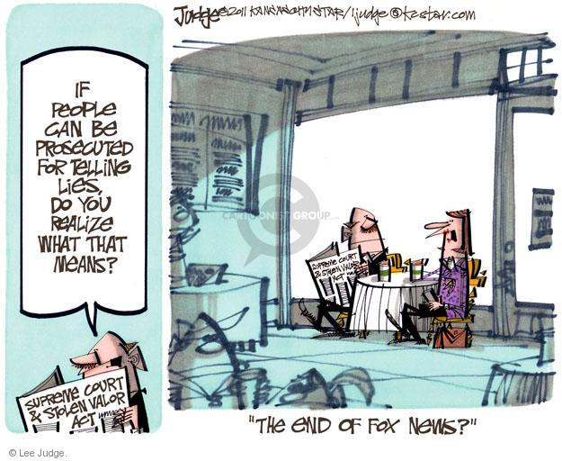 Cartoonist Lee Judge  Lee Judge's Editorial Cartoons 2011-10-20 civil liberty