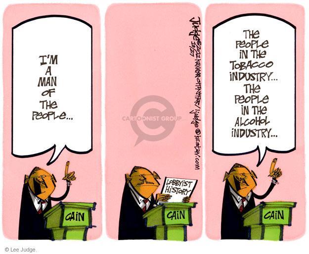 Lee Judge  Lee Judge's Editorial Cartoons 2011-10-27 political lobby
