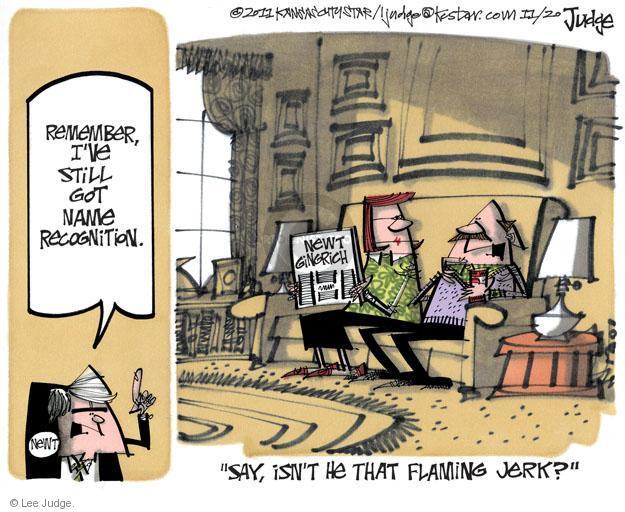 Lee Judge  Lee Judge's Editorial Cartoons 2011-11-20 Speaker of the House