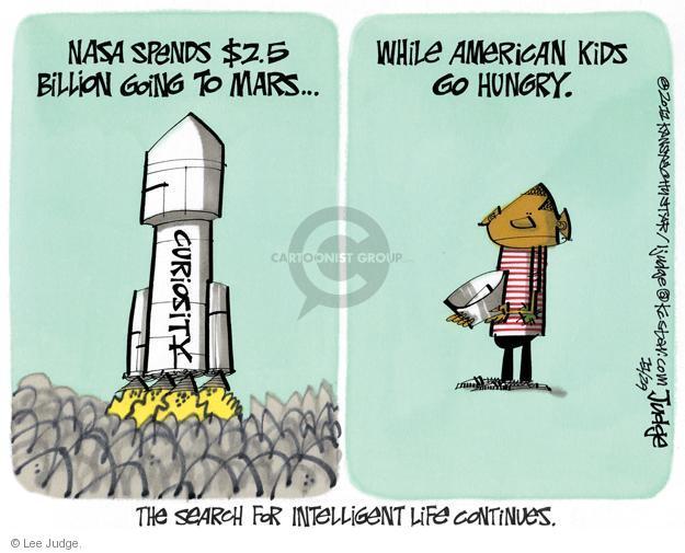 Lee Judge  Lee Judge's Editorial Cartoons 2011-11-29 space