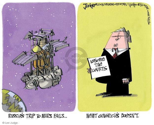 Lee Judge  Lee Judge's Editorial Cartoons 2011-12-20 Speaker of the House