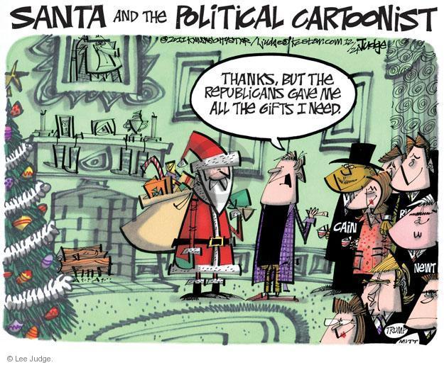 Lee Judge  Lee Judge's Editorial Cartoons 2011-12-24 Speaker of the House