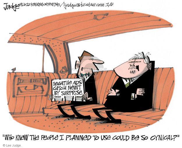 Lee Judge  Lee Judge's Editorial Cartoons 2012-01-05 Speaker of the House