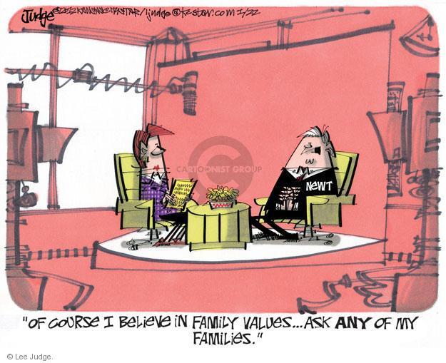 Lee Judge  Lee Judge's Editorial Cartoons 2012-01-22 Speaker of the House
