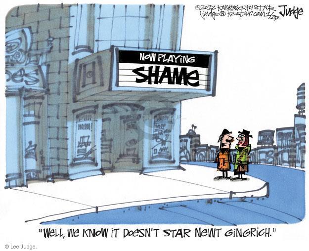 Lee Judge  Lee Judge's Editorial Cartoons 2012-01-25 Speaker of the House