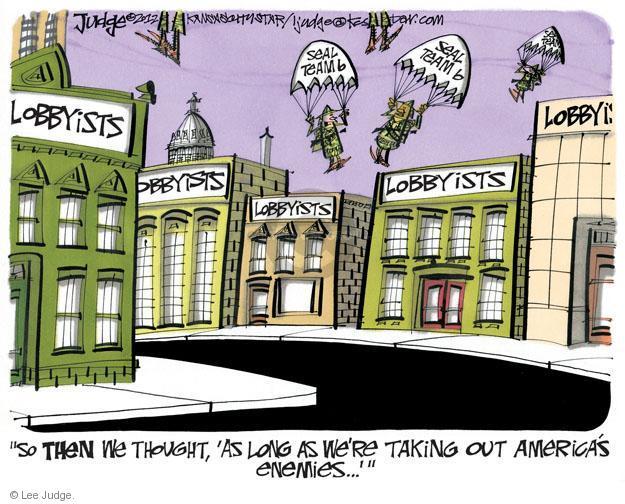 Lee Judge  Lee Judge's Editorial Cartoons 2012-01-27 political lobby