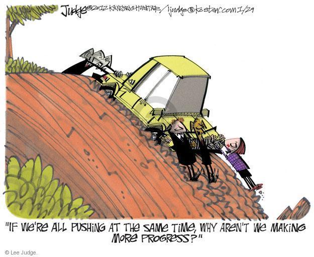 Cartoonist Lee Judge  Lee Judge's Editorial Cartoons 2012-01-29 representative