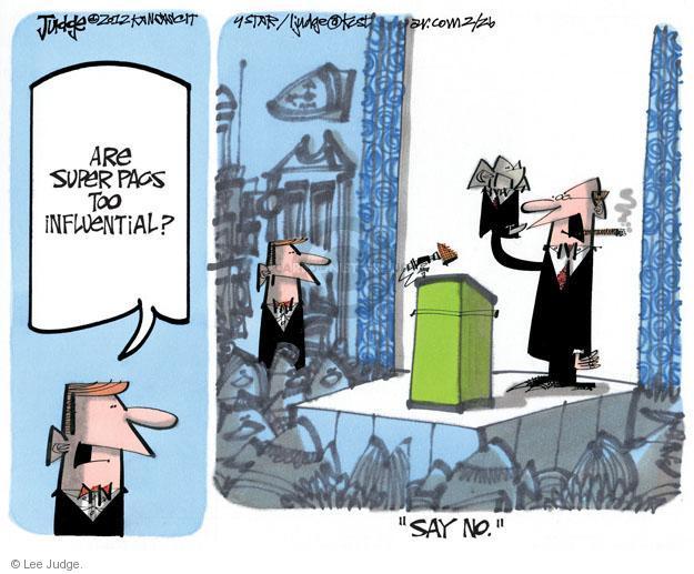 Lee Judge  Lee Judge's Editorial Cartoons 2012-02-26 puppet