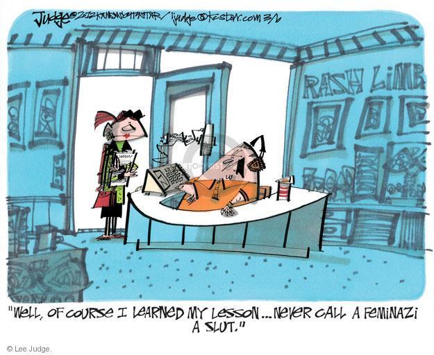Cartoonist Lee Judge  Lee Judge's Editorial Cartoons 2012-03-06 talk