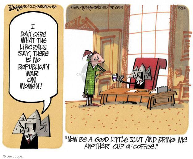Lee Judge  Lee Judge's Editorial Cartoons 2012-03-18 equal rights