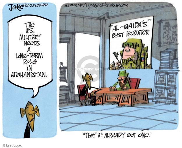 Cartoonist Lee Judge  Lee Judge's Editorial Cartoons 2012-03-20 military recruit