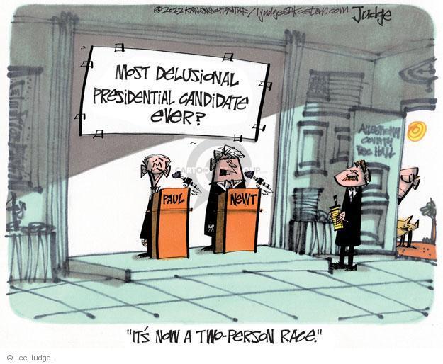 Lee Judge  Lee Judge's Editorial Cartoons 2012-04-13 Speaker of the House
