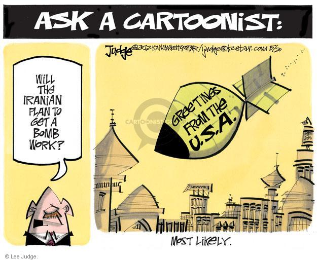 Lee Judge  Lee Judge's Editorial Cartoons 2012-05-20 Iran