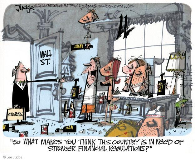 Lee Judge  Lee Judge's Editorial Cartoons 2012-06-21 bank