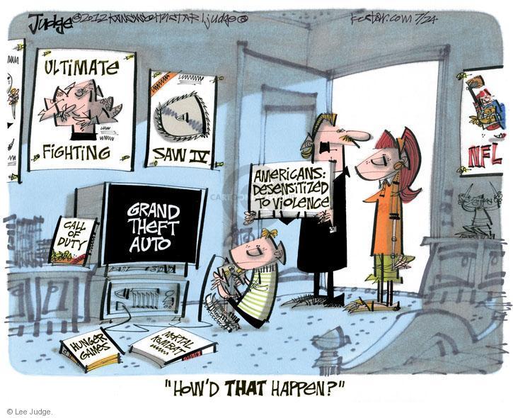 Lee Judge  Lee Judge's Editorial Cartoons 2012-07-24 violent
