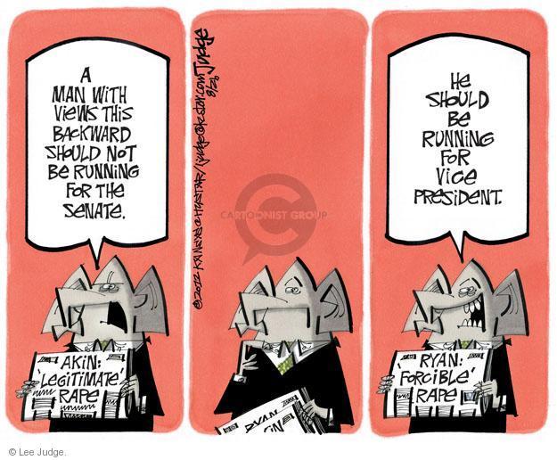 Cartoonist Lee Judge  Lee Judge's Editorial Cartoons 2012-08-26 representative