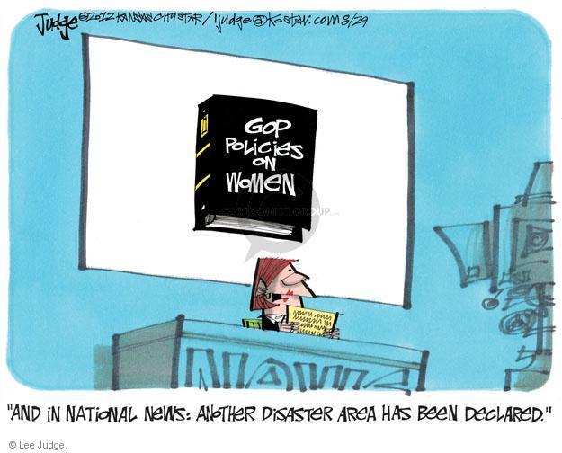 Cartoonist Lee Judge  Lee Judge's Editorial Cartoons 2012-08-29 stance