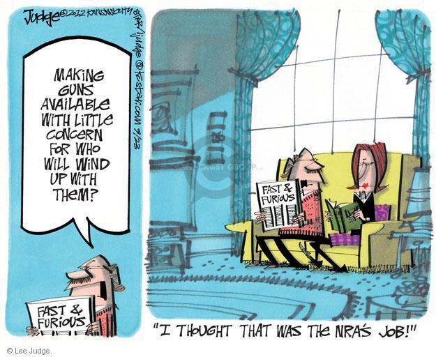 Cartoonist Lee Judge  Lee Judge's Editorial Cartoons 2012-09-23 justice