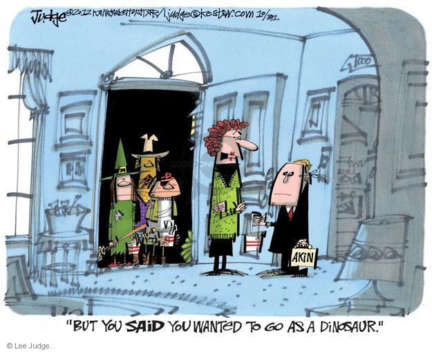 Cartoonist Lee Judge  Lee Judge's Editorial Cartoons 2012-10-31 representative