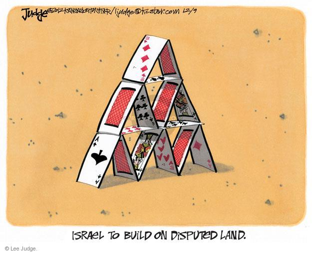 Lee Judge  Lee Judge's Editorial Cartoons 2012-12-09 Israel