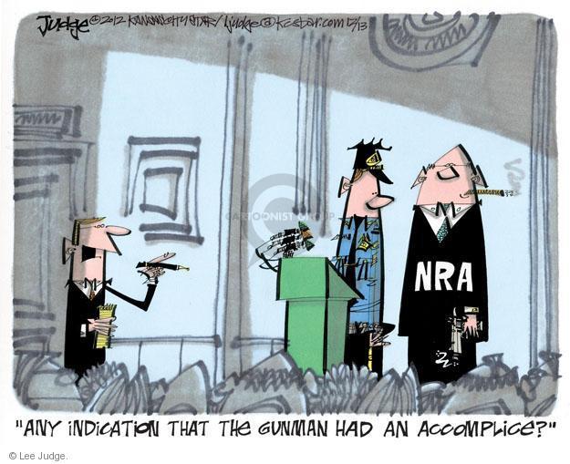 Lee Judge  Lee Judge's Editorial Cartoons 2012-12-13 violent