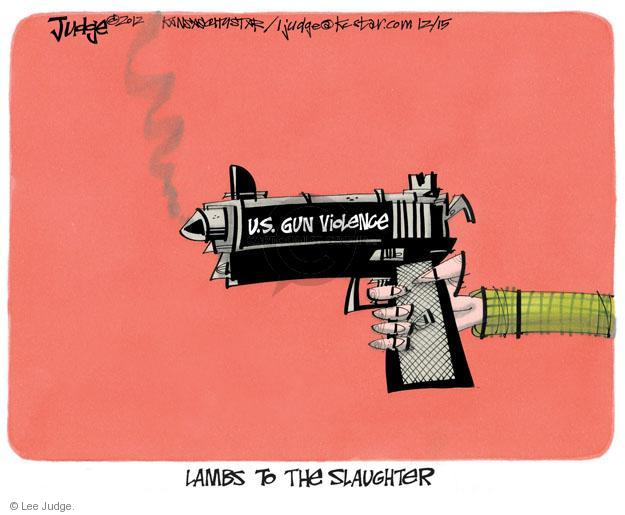 Cartoonist Lee Judge  Lee Judge's Editorial Cartoons 2012-12-15 semi-automatic