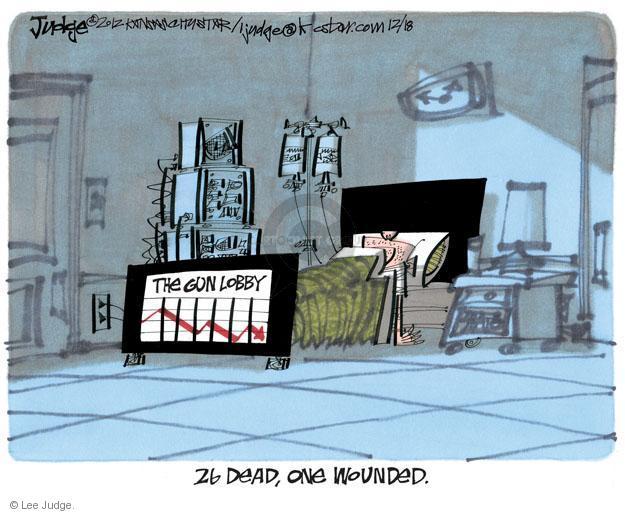 Lee Judge  Lee Judge's Editorial Cartoons 2012-12-18 violent