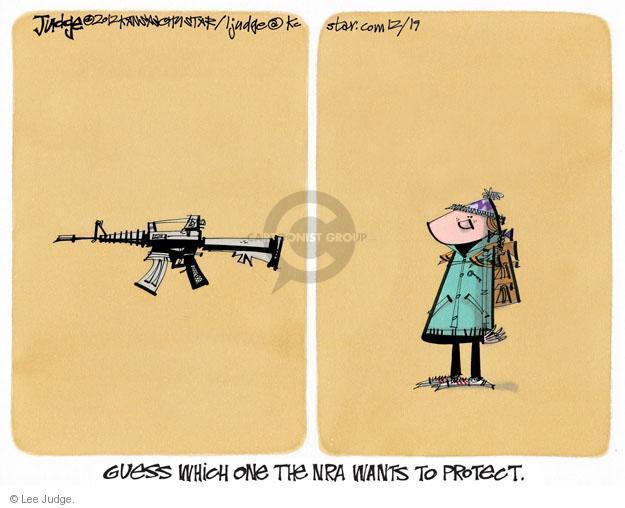 Lee Judge  Lee Judge's Editorial Cartoons 2012-12-19 assault weapon
