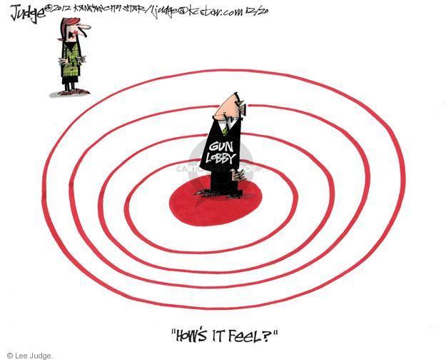Lee Judge  Lee Judge's Editorial Cartoons 2012-12-20 assault weapon
