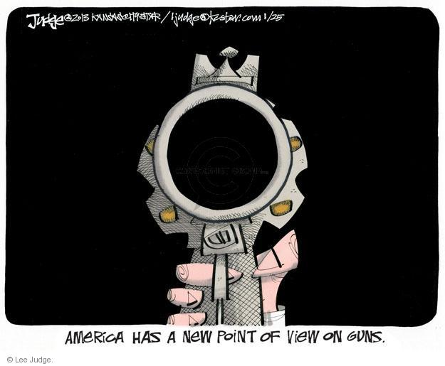 Lee Judge  Lee Judge's Editorial Cartoons 2013-01-25 assault weapon