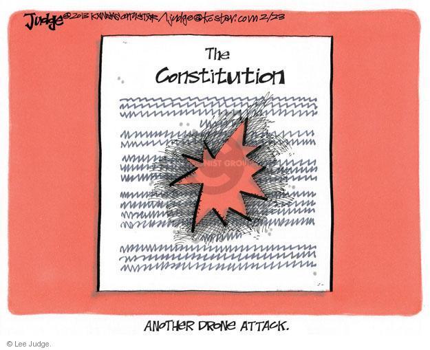 Lee Judge  Lee Judge's Editorial Cartoons 2013-02-22 Constitution