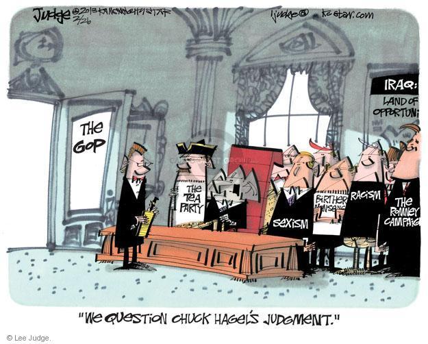 Lee Judge  Lee Judge's Editorial Cartoons 2013-02-26 racism