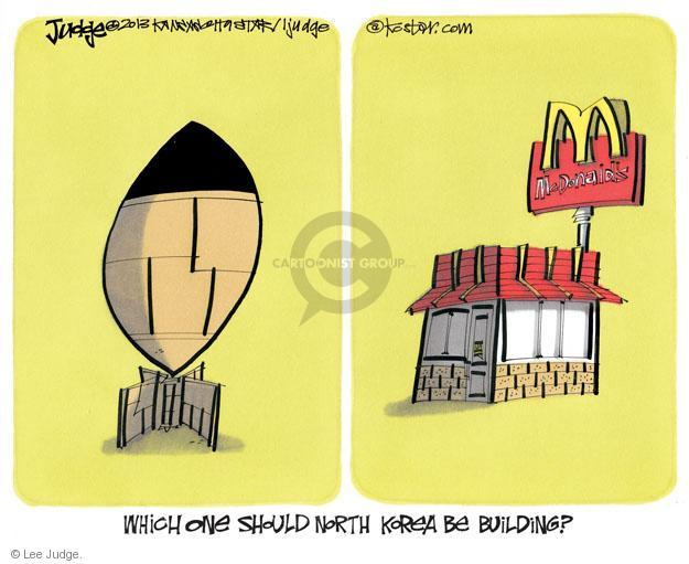 Which one should North Korea be building? McDonalds.