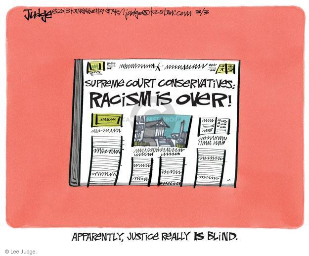 Lee Judge  Lee Judge's Editorial Cartoons 2013-03-03 racism