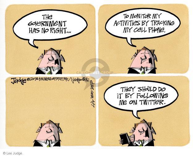 Lee Judge  Lee Judge's Editorial Cartoons 2013-04-07 privacy